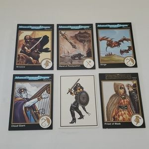 EUC Lot of 6 Dungeons & Dragons Cards